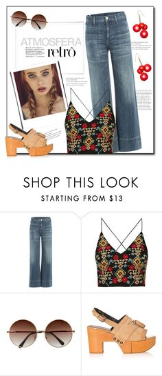 """""""Retro Style"""" by anne-symanski-goranson ❤ liked on Polyvore featuring Citizens of Humanity, Topshop, Robert Clergerie, Marni and retrovibe"""
