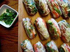 Avacado & Curry Chicken Spring Rolls with Chili Lime Dipping Sauce