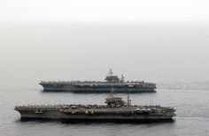 USS Constellation (CV-64) and USS Kitty Hawk (CV-63) - Kitty Hawk Class Aircraft Carrier (USA)