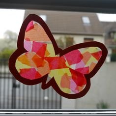 Diy Crafts For Kids, Arts And Crafts, Shadow Puppets, Toddler Art, Bugs And Insects, Spring Art, Camping Crafts, Stained Glass Windows, School Projects