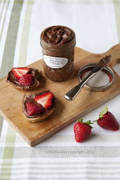 Sunflower Nutella  http://www.momables.com/sunflower-nutella/    2 cups raw sunflower seeds, toasted      1 1/2 tablespoons pure vanilla extract      1/4 cup cocoa powder      1/4 cup plus 3 tablespoons maple syrup (may sub agave or honey)      1/4 teaspoon salt      2-3 teaspoons coconut oil or vegetable oil, optional (for extra smoothness)      1/2 cup milk, dairy or nondairy