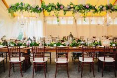 Ethereal head table at a Victorian Seaside Splendor wedding at Castle Hill Inn in Newport, RI