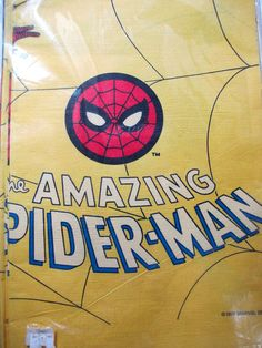 Vintage Spiderman Paper Tablecloth  by UrbanRenewalDesigns on Etsy, $12.00