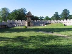 Modern reconstruction of slavic fortess in Chotěbuz, Czech republic