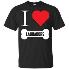 Labrador - I LOVE MY LABRADOR (BONE DESIGN) -  Custom Ultra Cotton T-Shirt
