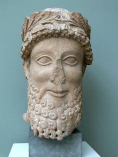 Ny Carlsberg Glyptothek, Copenhagen. Head of a man from Cyprus ( 5th century BC )