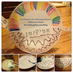 Afikoman Plate with Pouch craft for Passover