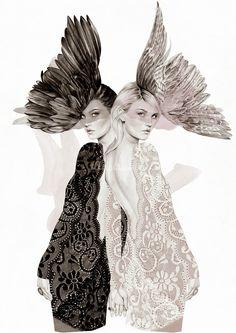gémeaux par Kelly Smith (pour Jewellery Samantha Wills)