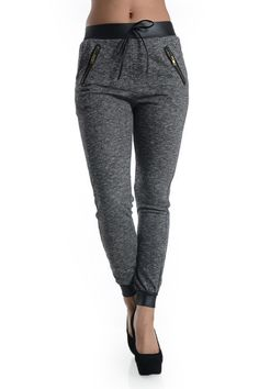 Comfy light-weight black Jogger Pants features zip front pocket detail.  Fabric Content: 100% Cotton    Fits true to size    **Color may appear slightly different in person and on other devices** | Shop this product here: spree.to/a2qs | Shop all of our products at http://spreesy.com/Ashleylondon    | Pinterest selling powered by Spreesy.com