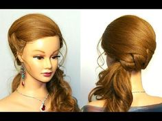 ▶ Wedding prom hairstyles for long hair. Bridal hairstyles tutorial - YouTube