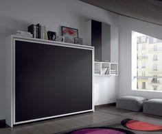 cama plegable de matrimonio cerrada, una cama principal o para invitados en muy poco espacio www.moblestatat.com horta guinardó barcelona