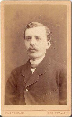 CDV photo Herrenportrait - Greifswald 1880er | eBay | Fr. Tackmann, Photographische Anstalt, Langefuhrstr. No. 25