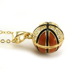 I like this necklace. I Totally want to go out for Basketball hopefully this year! :) Its perfect for me if u know my dedication to this sport. Fashion Jewelry Necklaces, Cute Jewelry, Jewelery, Basketball Is Life, Sports Basketball, Basketball Stuff, Jordan 23, Basketball Necklace, Gold Pendant Necklace