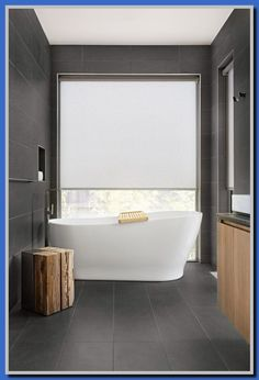 5 Abundant Cool Ideas: Kitchen Blinds With Dark Cabinets roller blinds kitchen.Diy Blinds Cleaning Tips fabric blinds tension rods.Bamboo Blinds With Drapes. Curtains With Blinds, Modern Blinds, Bathroom Window Coverings, Fabric Blinds, Shades Blinds, Bathroom Windows, Modern Windows, Window Coverings, Bathroom Blinds