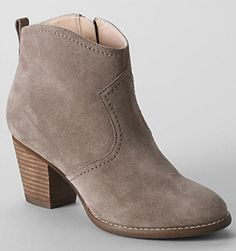These stacked-heel boots have a cushioned foot bed for maximum comfort--and the price can't be beat.