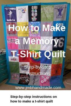 How to Make a Memory T-Shirt Quilt - JMB Handmade