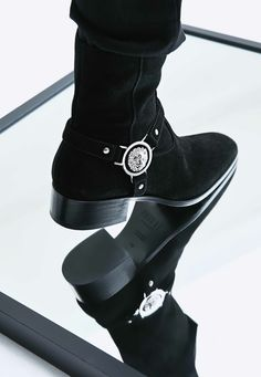 Master winter style in Lion studded boots. Shop now: https://goo.gl/JDZY7U Pic by Buro 24/7 Malaysia