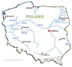Poland rivers | Major rivers and recommended canoe kayak routes in Poland
