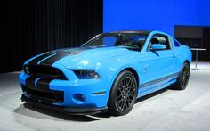 Cerulean Blue 2013 Ford Mustang Shelby Gt500.... Quite possibly the coolest car I've ever seen