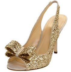 Kate Spade Sparkly Gold High Heel