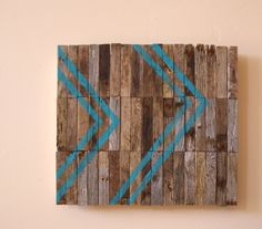 ON SALE - Guided / Modern Industrial Art / Original / Large Reclaimed Wood Artwork / industrial signage / chevron on Etsy, $379.05 CAD
