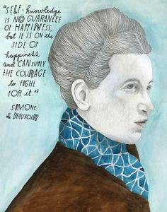 Simone de Beauvoir, illustrated by artist Lisa Congdon Life Quotes Love, Me Quotes, Motivational Quotes, Fight Quotes, Funny Inspirational Quotes, Truth Quotes, Beauty Quotes, Famous Quotes, Wisdom Quotes
