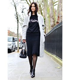 @Alexandra M What Wear - Hedvig Opshaug of The Northern Light  On Opshaug: Ganni coat and sweater; Isabel Marant Etoile skirt; Miu Miu shoes