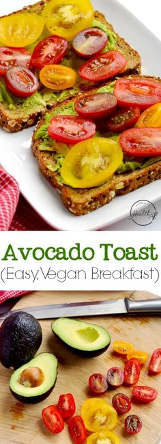 Toast Avocado toast is one of my go-to easy breakfasts that is full of flavor and healthy, filling fats, and it happens to be totally plant-based/ vegan. Quick Vegan Breakfast, Vegan Breakfast Recipes, Brunch Recipes, Vegetarian Recipes, Healthy Recipes, Vegan Meals, Quinoa Breakfast, Avocado Recipes, Soup Recipes
