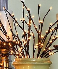 Check Out The Deal On Lighted Willow Branch 96 Bulbs 3 Stems Feet Tall At Battery Operated Candles Maureen Herrington Indoor Trees