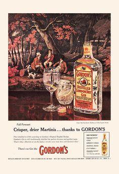 VINTAGE GORDON'S GIN Ad Retro Mid-Century by EncorePrintSociety