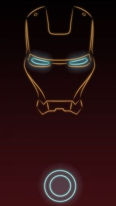 Iron man. Tap to see more Superheroes Glow With Neon Light Apple iPhone 6s Plus HD wallpapers, backgrounds, fondos. - @mobile9
