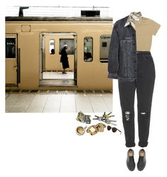 """13:30 p.m."" by umbrella129 ❤ liked on Polyvore featuring Dr. Martens, Ray-Ban, Topshop, Barneys New York and Y/Project"
