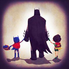 Fofura do dia: As famílias de super-heróis como Mulher Maravilha e Batman | Pop! Pop! Pop!