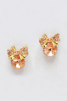 Audrey Earrings in Rose Champagne on Emma Stine Limited