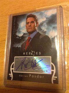 Adrian Pasdar Autographed Card Heroes Season 1
