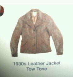 LEVI LVC x AERO 1930s TWO TONE LEATHER JACKET 40 M GANGSTER VTG