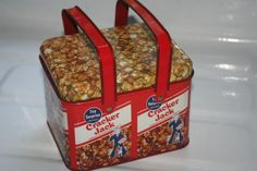 Vintage Cracker Jack Tin With Handles,Collectible tin,Castawayacres by Castawayacres on Etsy