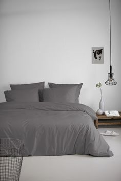 Organic duvet covers made out of 100% percal cotton from Damai #basic #organic #bedroom