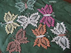 Beautiful butterfly. This one is a 70's crochet pattern, available for free here: http://crochetdoilies.com/crochet_butterfly.html