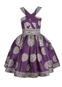 The The Day Dream Collection: Lola Dress (Fusion Purple). And a good use of border + print field. Ankara Styles For Kids, African Dresses For Kids, African Print Dresses, African Print Fashion, Africa Fashion, African Fashion Dresses, African Attire, African Wear, African Women