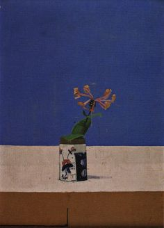 Euan Uglow,    Still Life with Honeysuckle, 1968    Oil on Panel