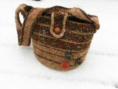 Large Retro Striped Purse Bag Tote With Shoulder by TrendsOfBend, $78.00