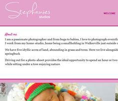 Baby Photography Website Designed on WordPress.  CSS, HTML, WordPress, Headway 3