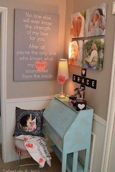 Wall decor for a nursery