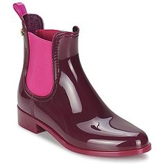 Love these burgandy and pink low wellies by Lemon Jelly! #shoes #boots #lowwellies #lemonjelly #spartoouk