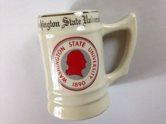 Washington State University Stein Mug Cougars USA Made WC Bunting Beer Cup http://www.ebay.com/itm/-/302339926290?roken=cUgayN&soutkn=LCrawI #vintage #pullman #gocougs #tbt #wsu