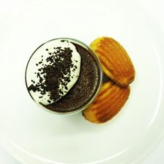 Chocolate Pots with Lavender Madeleines