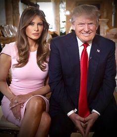 Donald and Melania Trump Donald Trump Family, Donald And Melania Trump, First Lady Melania Trump, Trump Melania, Milania Trump Style, Malania Trump, Trump Train, Melania Knauss Trump, Trump Is My President