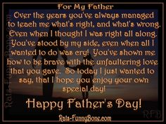 Happy Fathers Day Quotes From Daughters Happy Fathers Day Message, Fathers Day Messages, Happy Father Day Quotes, Father Daughter Quotes, Funny Fathers Day, Happy Quotes, Family Poems, Dad In Heaven, Meaningful Quotes