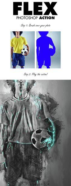 Flex Photoshop Action  #professional #psd #shapes #$6 - Download http://graphicriver.net/item/flex-photoshop-action/15265837?ref=pxcr